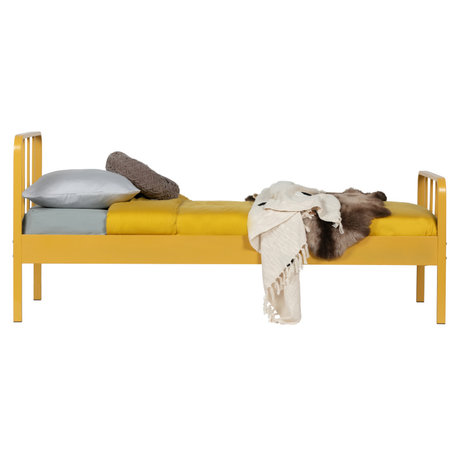 LEF collections Bed Mees senfgelber Stahl 208x95x90cm