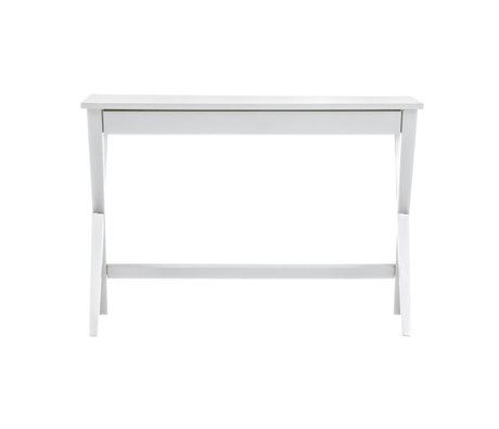 LEF collections Bureau Mia blanc mdf 110x55x75cm
