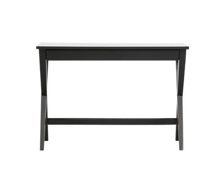 LEF collections Desk Mia black wood 75x110x55cm