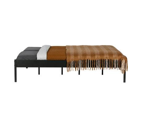 WOOOD Bed Pippin black steel 208x167x42cm