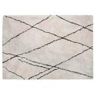 WOOOD Vloerkleed Cleo gebroken wit zwart textiel 170x240x1cm