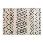 LEF collections Vloerkleed Nando gebroken wit zwart textiel 160x230x4,5cm
