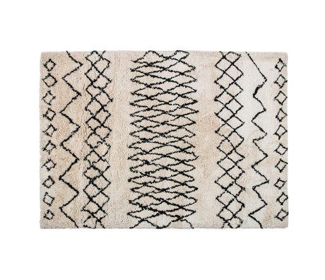LEF collections Tapis Nando blanc cassé noir textile 160x230cm
