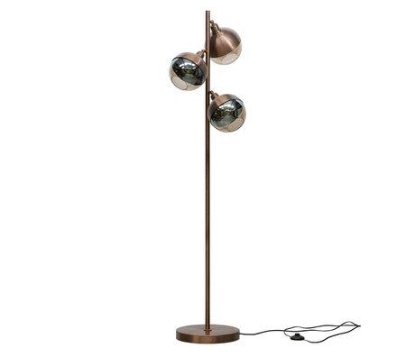 BePureHome Stehlampe Split braunes Eisen 158x43x43cm