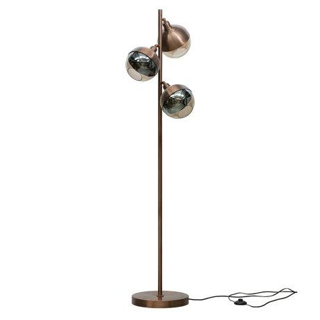 BePureHome Floor lamp Split brown iron 158x43x43cm