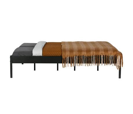 WOOOD Bed Pepijn zwart staal 187x42x208cm