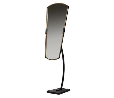 BePureHome Spiegel Arrogant stehendes schwarzes Metall 48x45x166cm