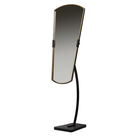 BePureHome Miroir Arrogant debout métal noir 48x45x166cm