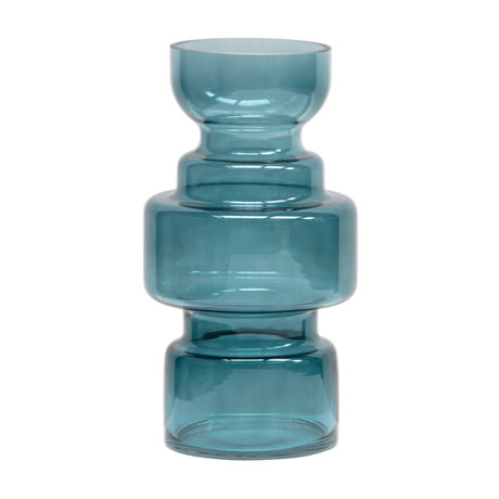 BePureHome Expressive Vaas Glas Blauw 30xØ15