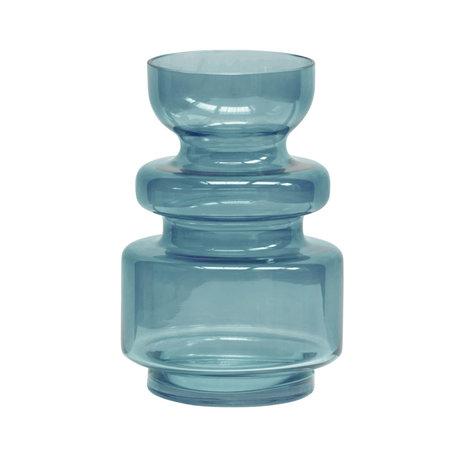 BePureHome Expressive Vaas Glas Blauw 24xØ15