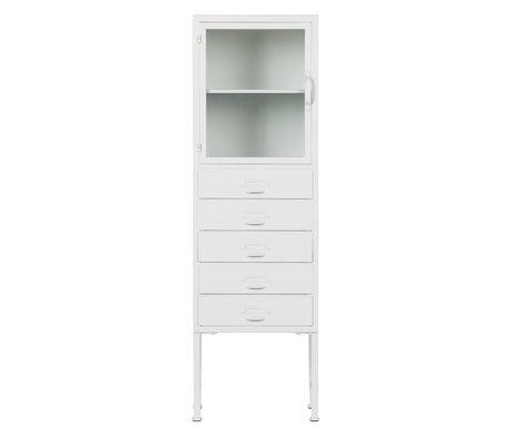 vtwonen Armoire bibliothèque en fer blanc 124x39x35cm