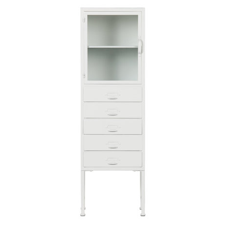 vtwonen Cabinet Library white iron 124x39x35cm