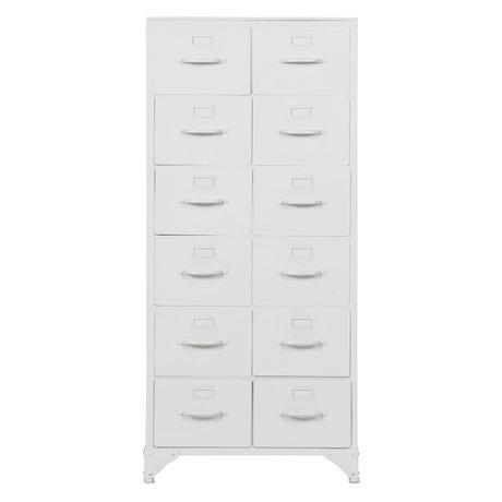 vtwonen Chest of drawers Stock white iron 110x50x39cm
