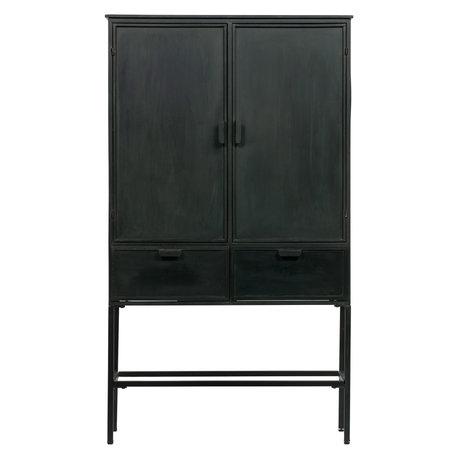 BePureHome Kast Wish zwart ijzer 87x36x151cm