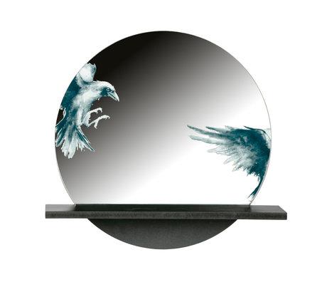 BePureHome Raven Spiegel Metaal Zwart