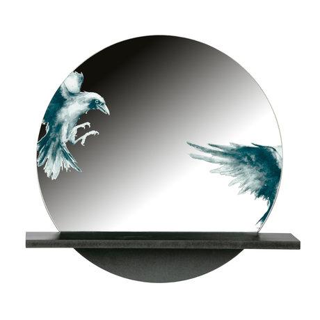 BePureHome Spiegel Raven zwart metaal 49x16x46cm