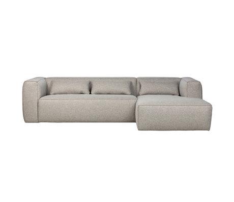 WOOOD Corner sofa Bean right light gray polyester cotton 305x96 / 175x73cm
