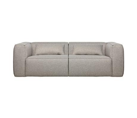 WOOOD Sofabohne 3,5-Sitzer hellgraue Polyester-Baumwolle 73x246x96cm