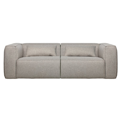 WOOOD Sofa Bean 3.5 seater light gray polyester cotton 73x246x96cm
