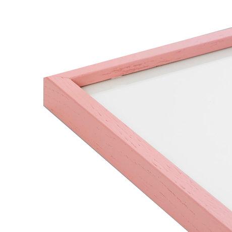 Paper Collective Cadre photo rose rose bois 50x70cm