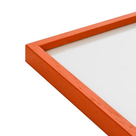 Paper Collective Fotolijst Frame Orange oranje hout 30x40cm