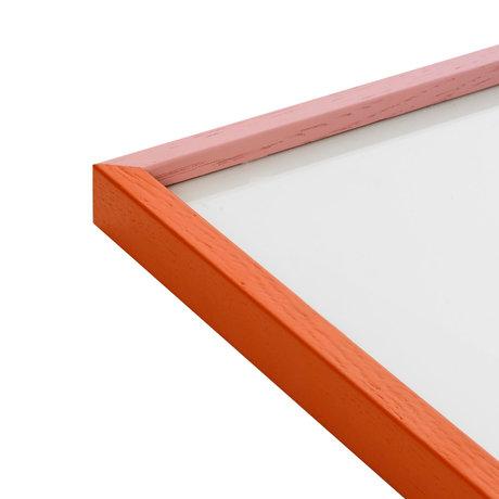 Paper Collective Cadre photo Cadre Rose / Orange rose orange bois 30x40cm