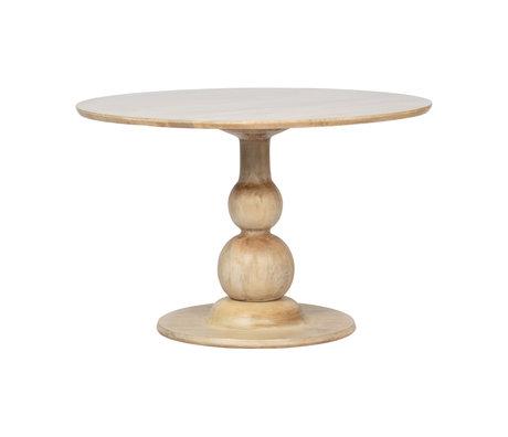 BePureHome Table à manger Blanco bois de manguier marron naturel Ø120x75cm