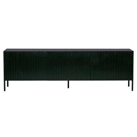 WOOOD Meuble TV Gravure pin noir métal 56x180x46cm