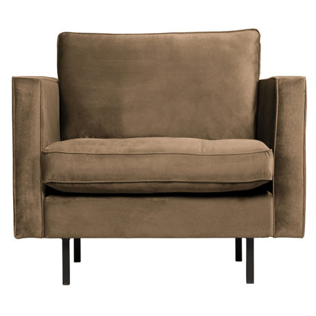 BePureHome Fauteuil Rodeo Classic taupe fluweel 98x88x83cm