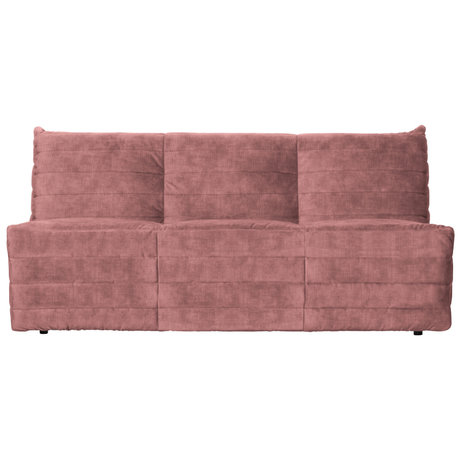 WOOOD Bank Bag roze fluweel 160x90x75cm
