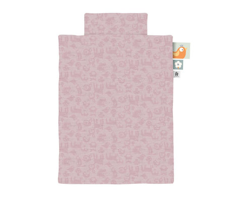 Sebra Bettbezug Jersey Baby Waldpuderrosa 70x100cm inkl. Kissenbezug 45x40cm