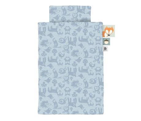 Sebra Duvet cover Jersey baby Forest powder blue 70x100cm incl. Pillowcase 45x40cm