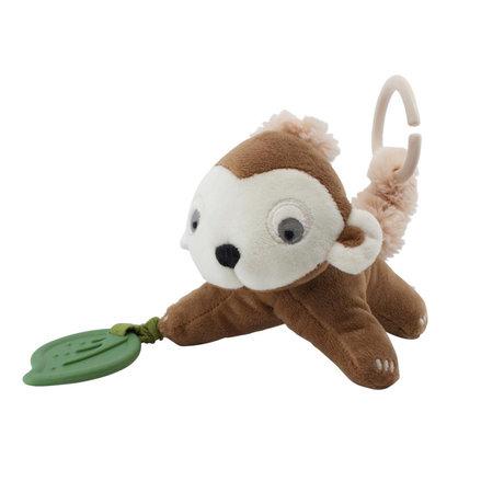 Sebra Speeltje om op te hangen Maci the monkey almond bruin polyester 14x22cm
