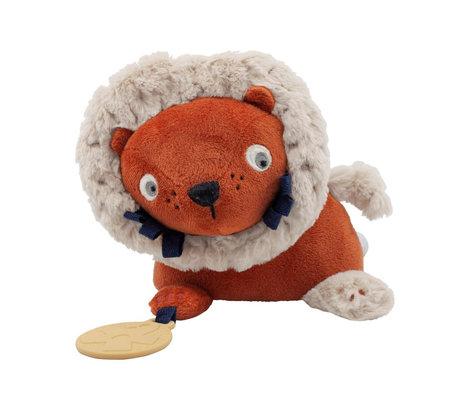 Sebra Toy to hang Lee the lion orange polyester 16x32cm