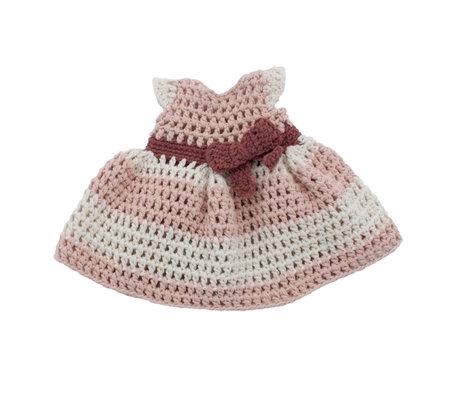 Sebra Poppenkleding jurkje poeder roze katoen 40cm