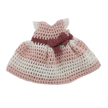 Sebra Robe de poupée en coton rose poudré 40cm