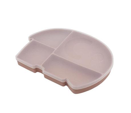 Sebra Lunchbox Fanto the elephant poeder roze silecone 25x18,5x3cm