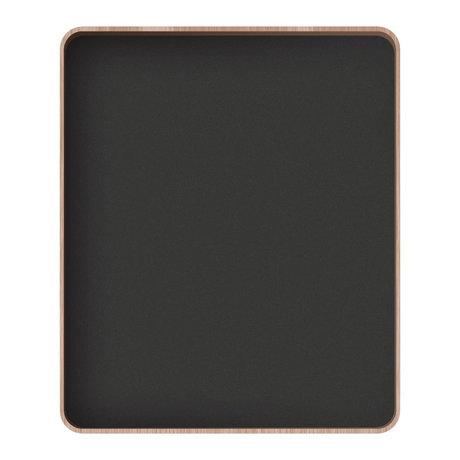 Sebra Tableau noir Oakee tableau noir avec cadre en chêne 90x8x75cm