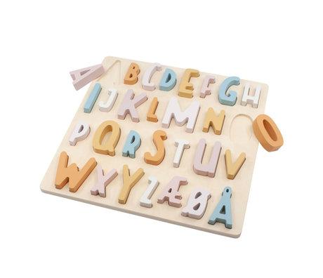 Sebra Jigsaw puzzle ABC candy pink wood 30x30x3cm