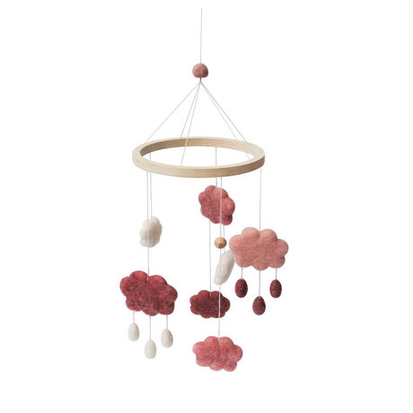 Sebra Mobile Clouds Candy Pink Wollholz 22x57cm