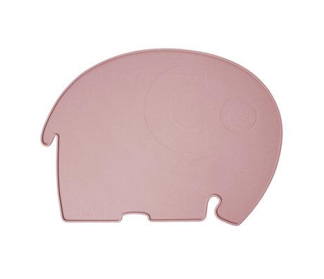 Sebra Placemat Fanto the elephant poeder roze silecone 43x33x0,4cm