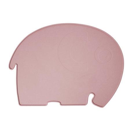 Sebra Set de table Fanto l'éléphant rose poudré silecone 43x33x0,4cm
