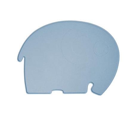Sebra Placemat Fanto the elephant poeder blauw silecone 43x33x0,4cm