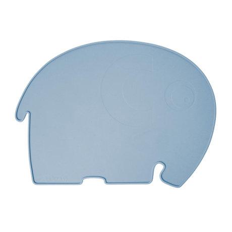 Sebra Set de table Fanto l'éléphant poudre bleu silecone 43x33x0,4cm