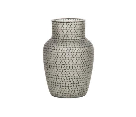 WOOOD Vase Ace schwarzes Glas 45x30x30cm