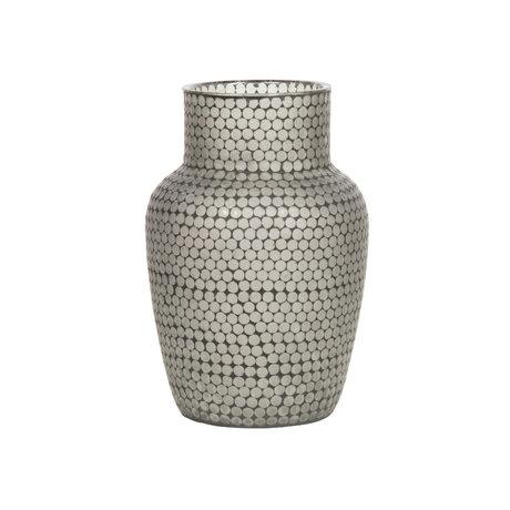 WOOOD Vase Ace verre noir 45x30x30cm