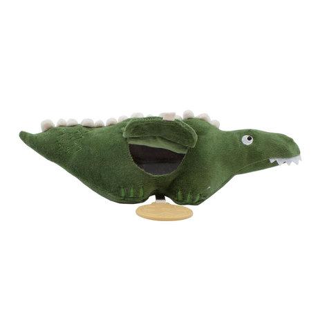 Sebra Spielzeug zum Aufhängen von Ali the Aligator moosgrünem Samt