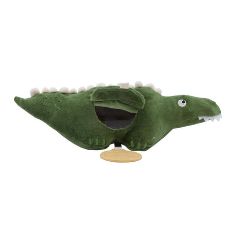 Sebra Toy to hang Ali the Aligator moss green velvet