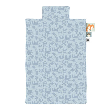 Sebra Bettbezug Jersey Junior Forest Powder Blue 100x140cm inkl. Kissenbezug 45x40cm