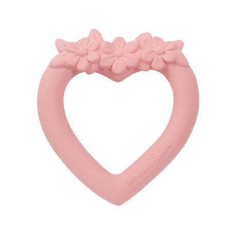 A Little Lovely Company Anneau de dentition Coeur rose sans bpa et sans phtalate PVC 9x11x2cm